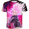 Super Saiyan Rose Goku Black T-Shirt - Dragon Ball Super Clothing