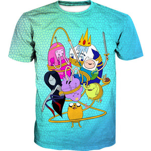 Adventure Time All Characters Hoodie - Adventure Time Character Clothes - Hoodie Now
