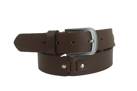 Dark Brown Leather Belt 12434