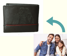 Load image into Gallery viewer, Personalized Dark Brown men's Small Slim Trifold Genuine Leather Wallet Coins Card Bill