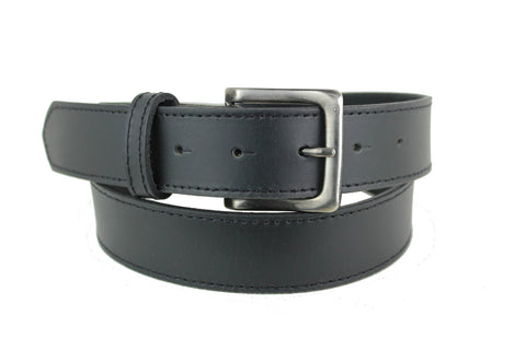 Mans Black Leather Belt 1102