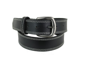 Mans Black Leather Belt 1104
