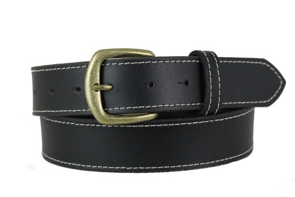 Black Leather Belt 1105