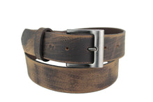 Load image into Gallery viewer, BROWN-LEATHER-MEN-BELT