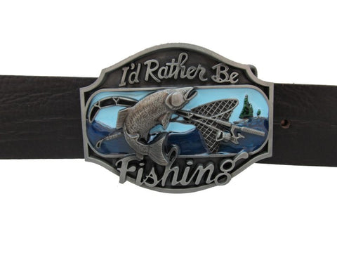 Fishing With Trout Fish Belt Buckle