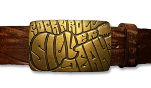 Bronze Guitar Belt Buckle - United Split