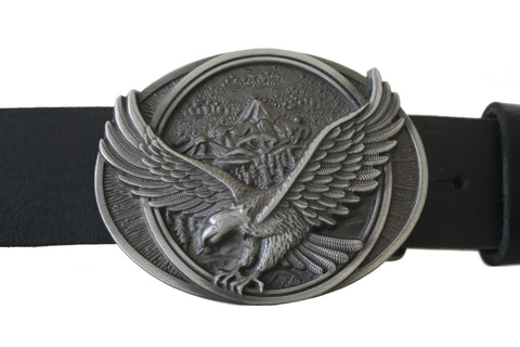 3D Eagle Western Belt Buckle