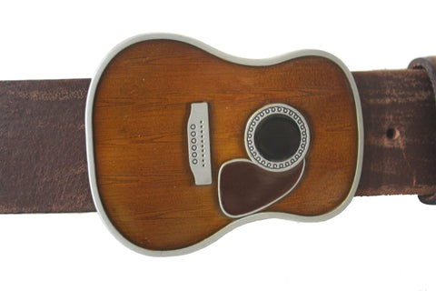 Beautiful Brown Classical Guitar Belt Buckle