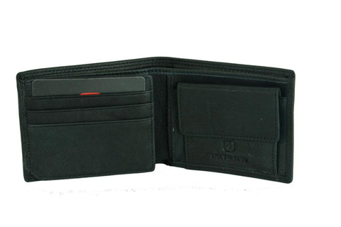 Men's Medium Trifold Swiss Travel Club Leather Wallet (11007)