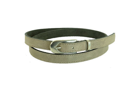 Woman Skinny Off-White Leather Belt