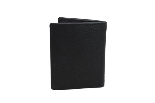 Mens Small Slim Wallet Leather Only Credit Card Non Coins 9647