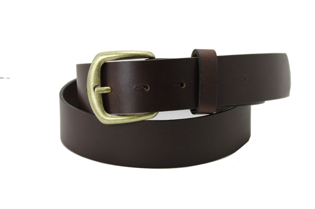 Men Belt Genuine Leather Brown Handmade Classic High Quality 4 cm 1.4 inch Elegant Style 2100