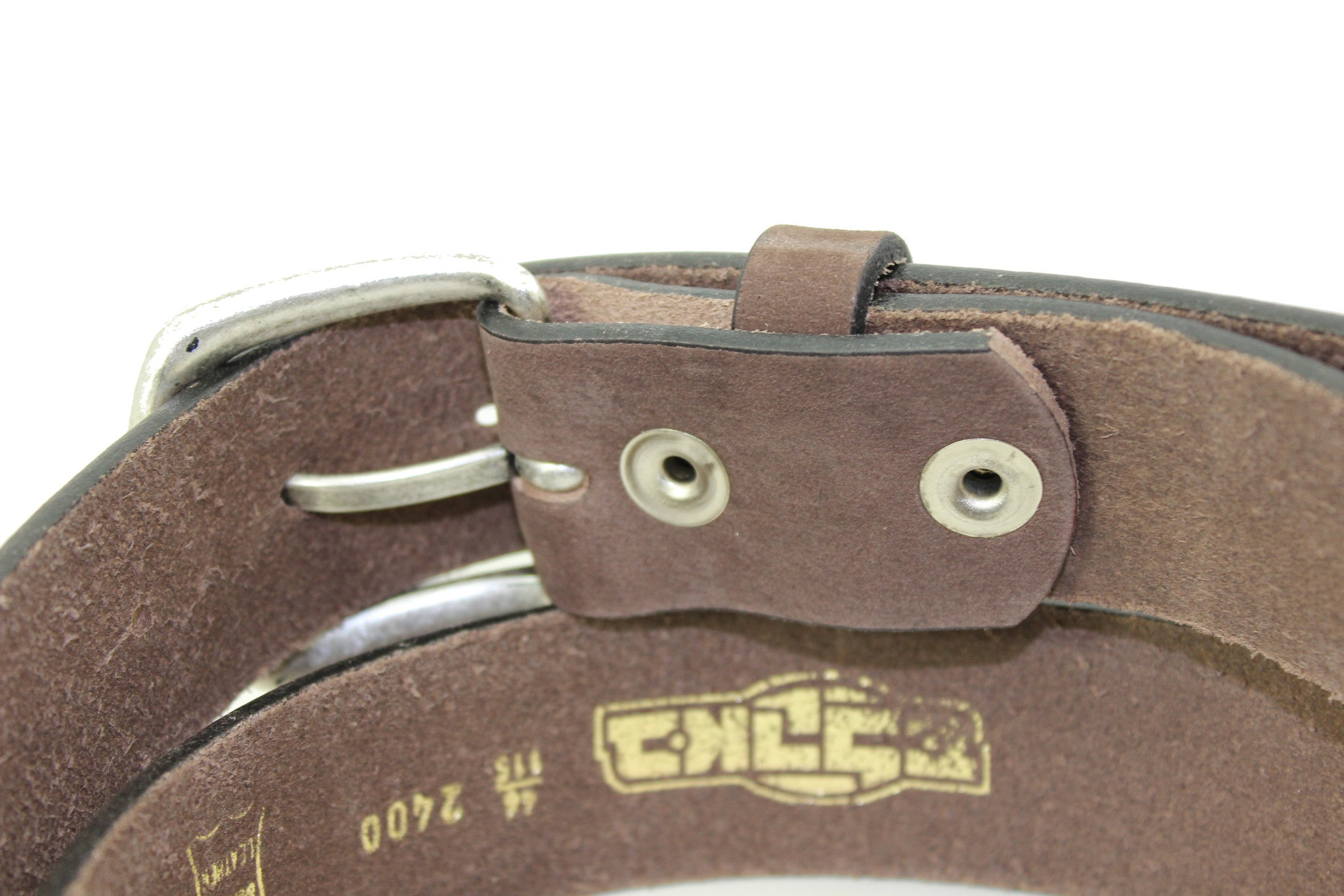 Men's Brown Suede Genuine Leather Belt High Quality Handmade 3.5 cm 1.4 inch 2400 - United Split