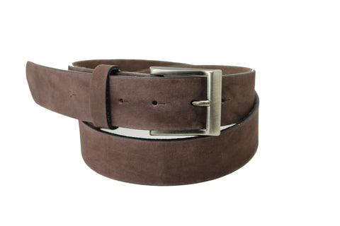 Men Woman Unisex Brown Suede Genuine Leather Belt High Quality Handmade 4 cm 1.5 inch 2400