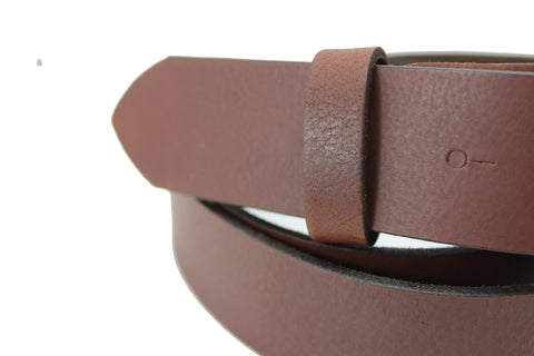 "Men Belt Brown Genuine Leather Soft Buckle Fit Size Plus Waist 4 cm 1.5"" Elegant Standart 2108"