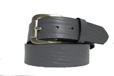 Grey Leather Belt 3106