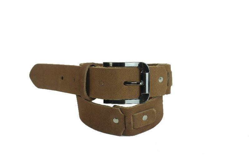 Camel Brown Leather Belt 21002