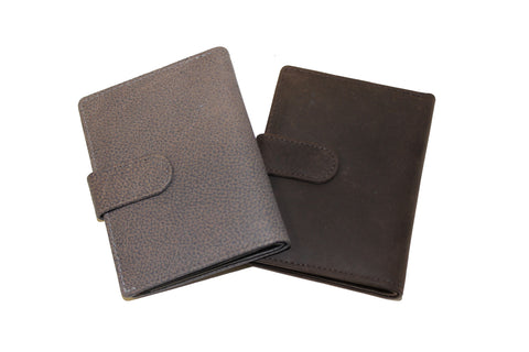 Small Bifold Card Organizer Genuine Leather Unisex Coins Zipper Bill Fold Window 9643