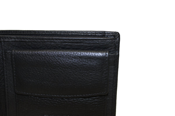 Men's Large Trifold Genuine Leather Wallet Coins Pocket Card Money Bill Fold Zipper New Color Option 9654