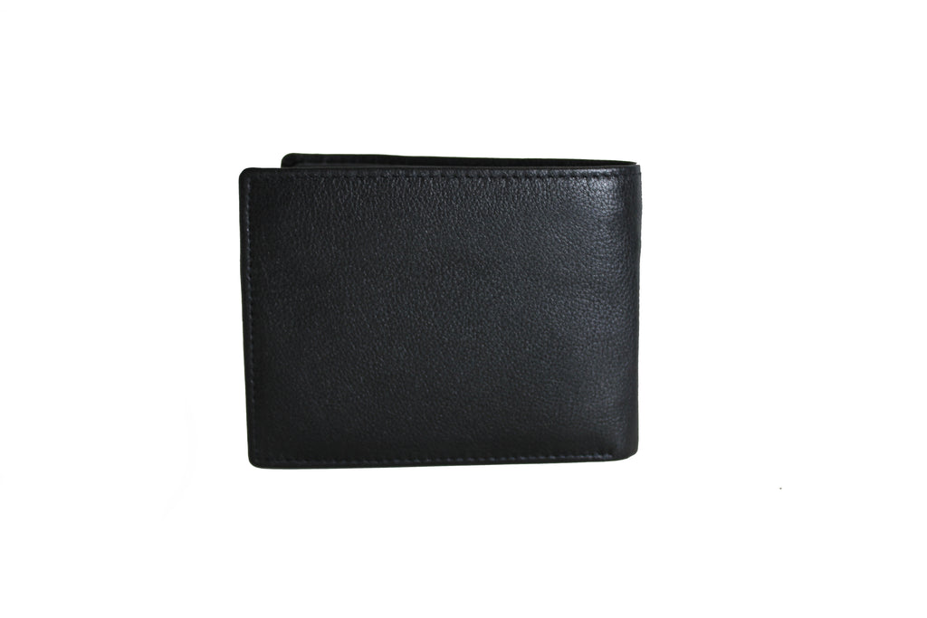 Men's Large Trifold Genuine Leather Wallet 9655 - United Split picture on wallet