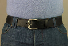 Load image into Gallery viewer, leather black belt men
