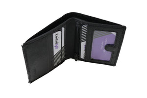 Men's Small Slim Bifold Genuine Leather Wallet Magnet 9640 - United Split