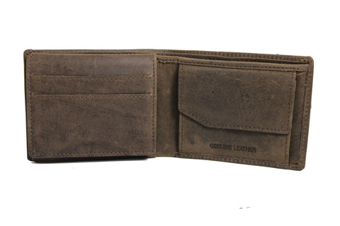 Men's Quarter Fold Genuine Leather Wallet  9645