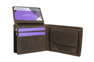 Men's Quarter Fold Genuine Leather Wallet  9645 - United Split