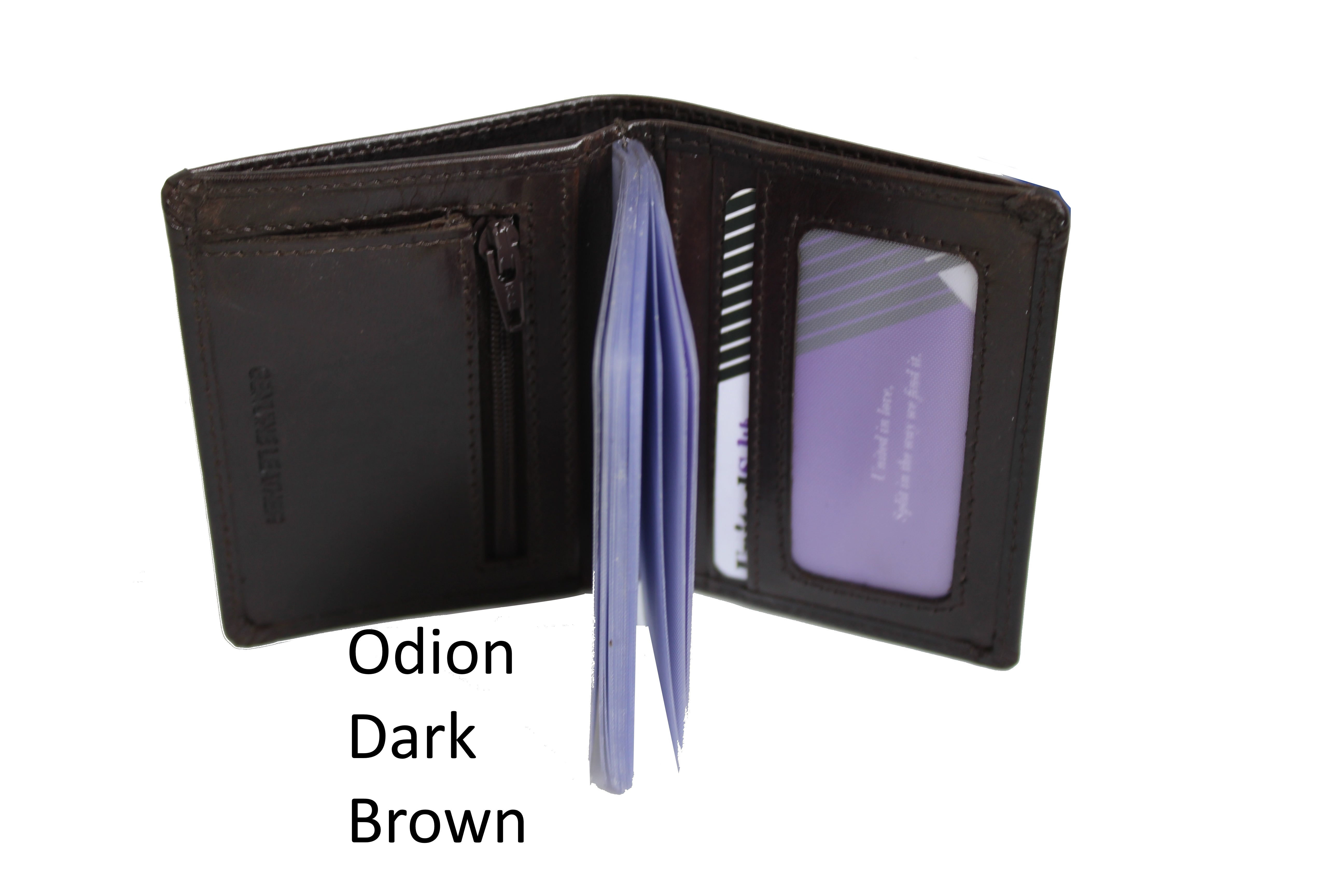 Unisex Small Genuine Leather Wallet Cards Holder Organizer Nylon Slot Coins Bill Fold 9714 - United Split