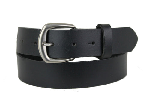 Mans Black Leather Belt 1100