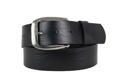 Black Wide Leather Belt 4101