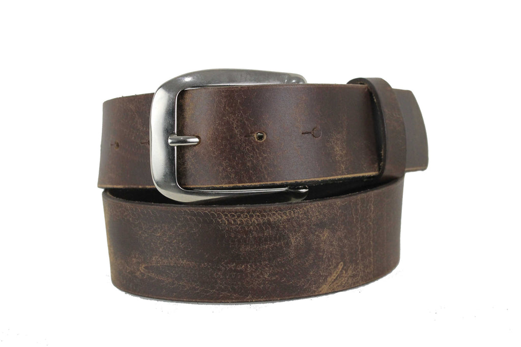 "Men's Brown Genuine Leather Belt  Extra Wide Distorted 1.7"" inch 4cm XL XXL 5102 - United Split"