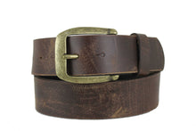 "Load image into Gallery viewer, Men's Brown Genuine Leather Belt  Extra Wide Distorted 1.7"" inch 4cm XL XXL 5102"