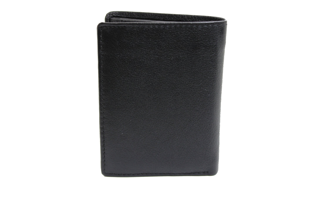 Men's Small Slim Trifold Genuine Leather Wallet Coins Card Bill 9706 - United Split