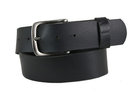 Wide Leather Black Belt 4100