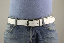 Load image into Gallery viewer, White Leather Belt 3104