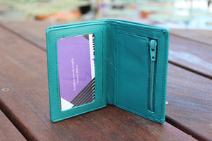 Small Slim High Quality Leather Trifold Wallet BL215