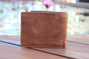 Men's Large Trifold Genuine Leather Wallet 9654