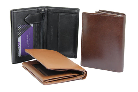Men's Large Quarter Fold Genuine Leather Wallet 9652