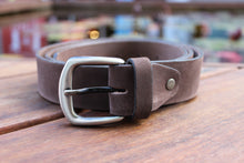 Load image into Gallery viewer, Men's Brown Suede Genuine Leather Belt High Quality Handmade 3.5 cm 1.4 inch 2400