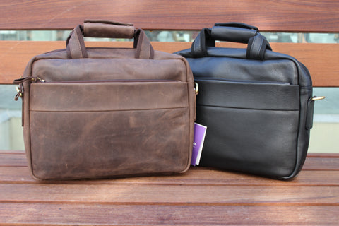 Men's Medium Office Laptop Genuine Leather Bag BL-9616