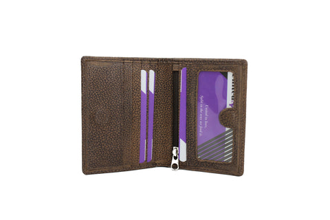 Mens Small & Slim Bifold Genuine Leather Wallet Magnet Kango 9640