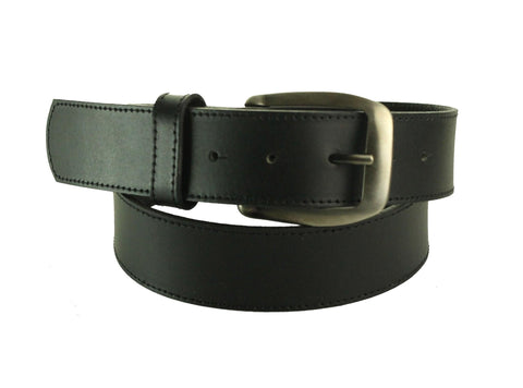 Black Wide Leather Belt 4102