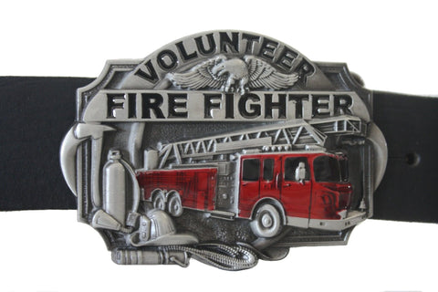 3D Western Fire Department Belt Buckle