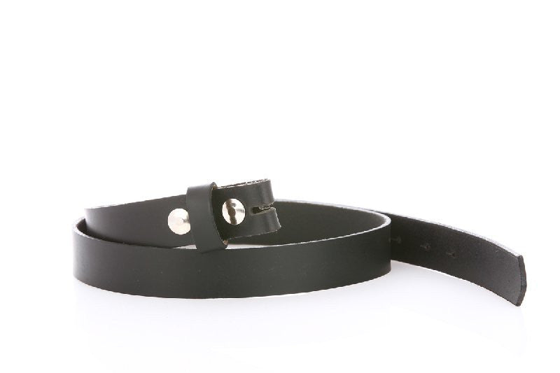 skinny Black Leather Belt 8100 - United Split