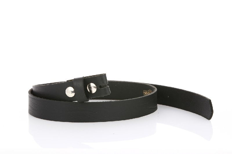 Thin Elegant Leather Black Belt 8101 - United Split