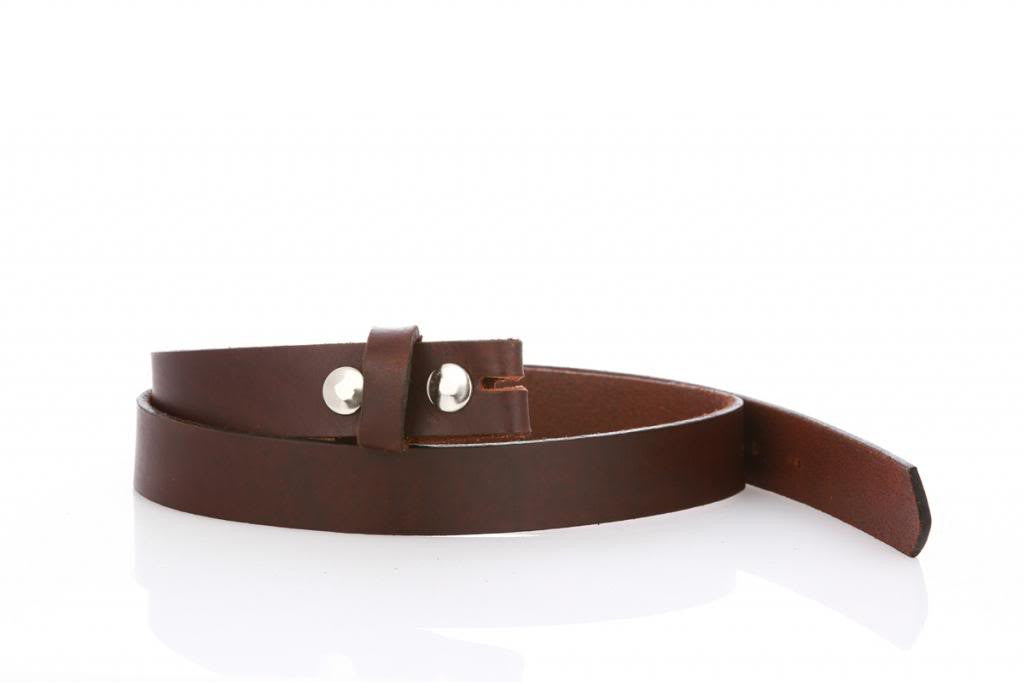 Thin Brown Leather Belt 9100 - United Split