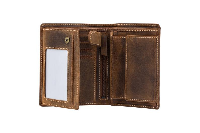 VISCONTI RFID Leather Wallet - Oil TAN - Hunters Collection - Expandable Wallet - 709 - Cash and Coin Holder - Card Case - Bi-Fold