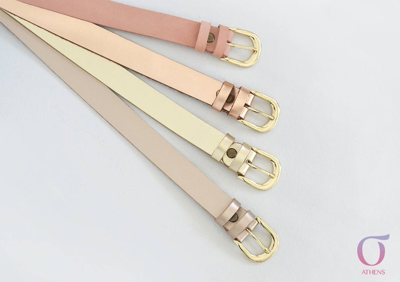 Leather belt women 1inch