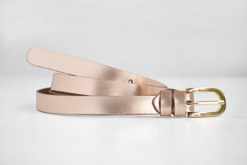 Womens leather belt 0.6inch